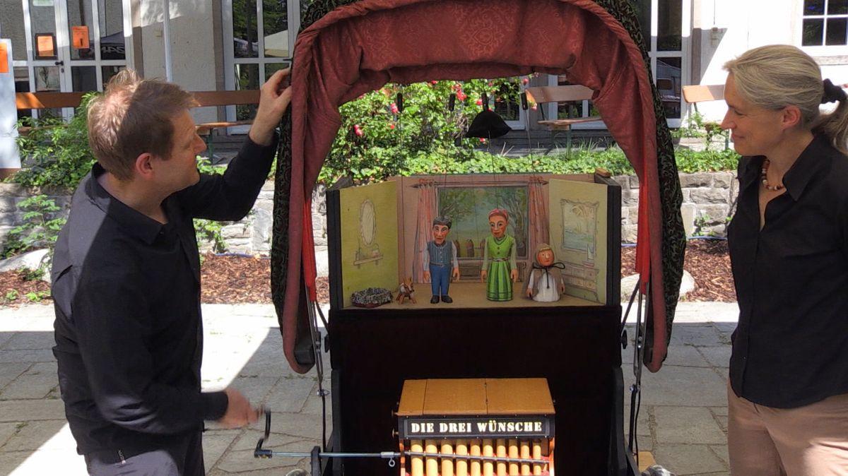 Das Marionetten-Theater von Kerstin und Sven Moussong spielt diesen Sommer von unterwegs.