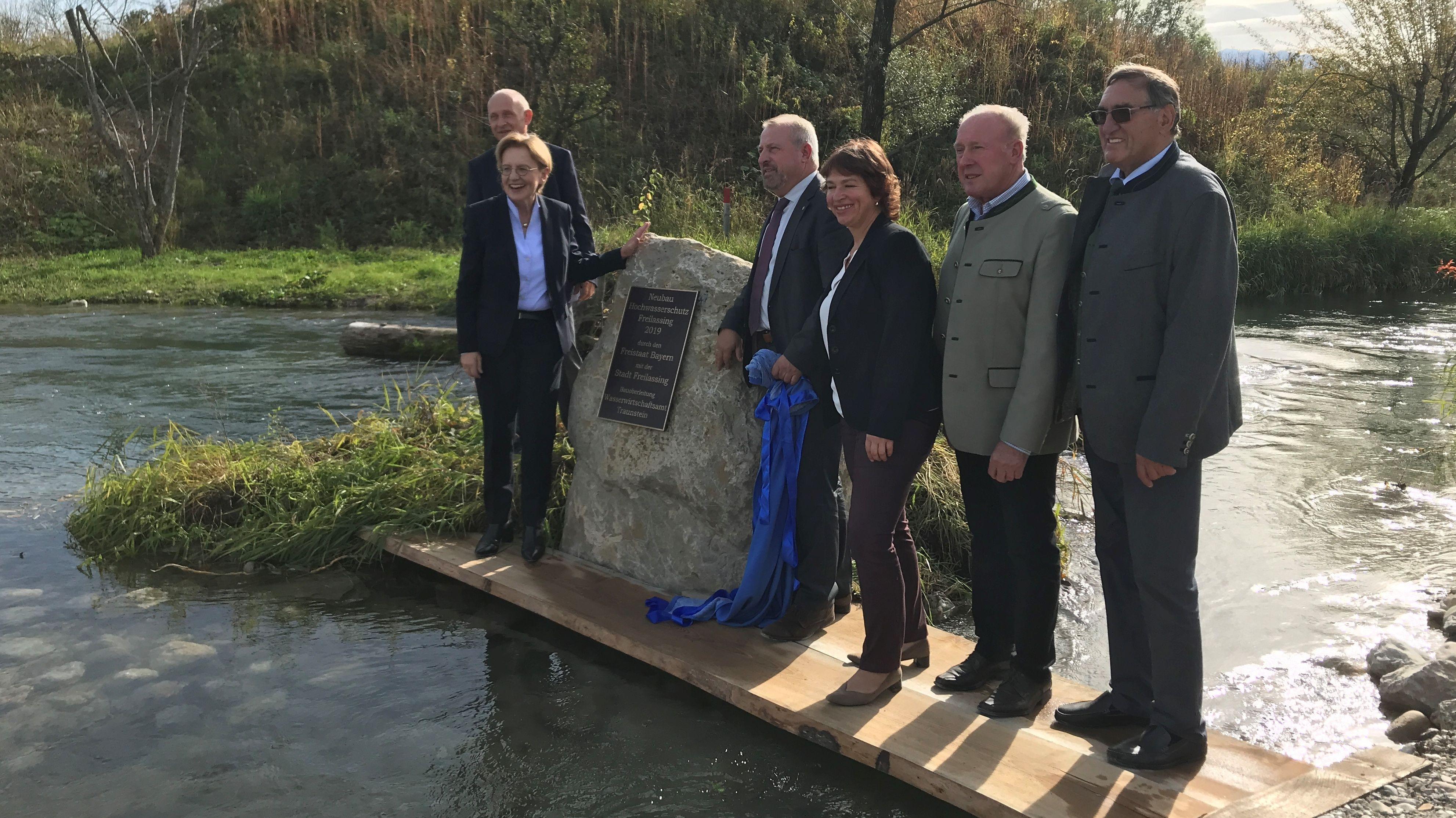 Einweihung der neuen Hochwasserschutzanlage in Freilassing