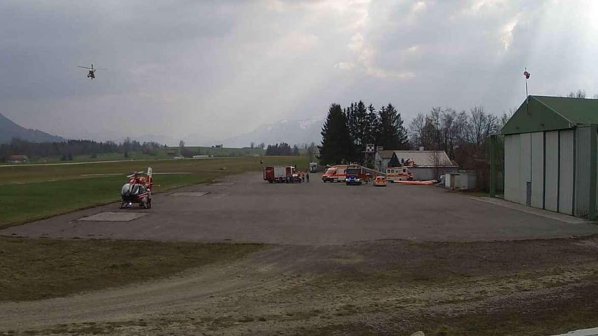 Schwerer Unfall am Flughafen Greiling