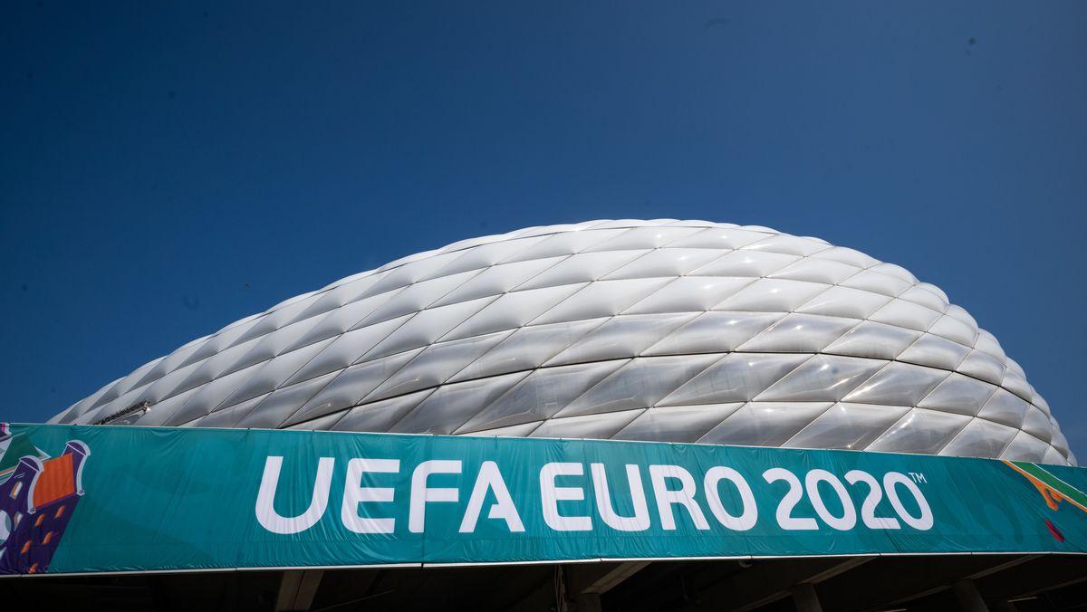 Das Fußballstadion in München.