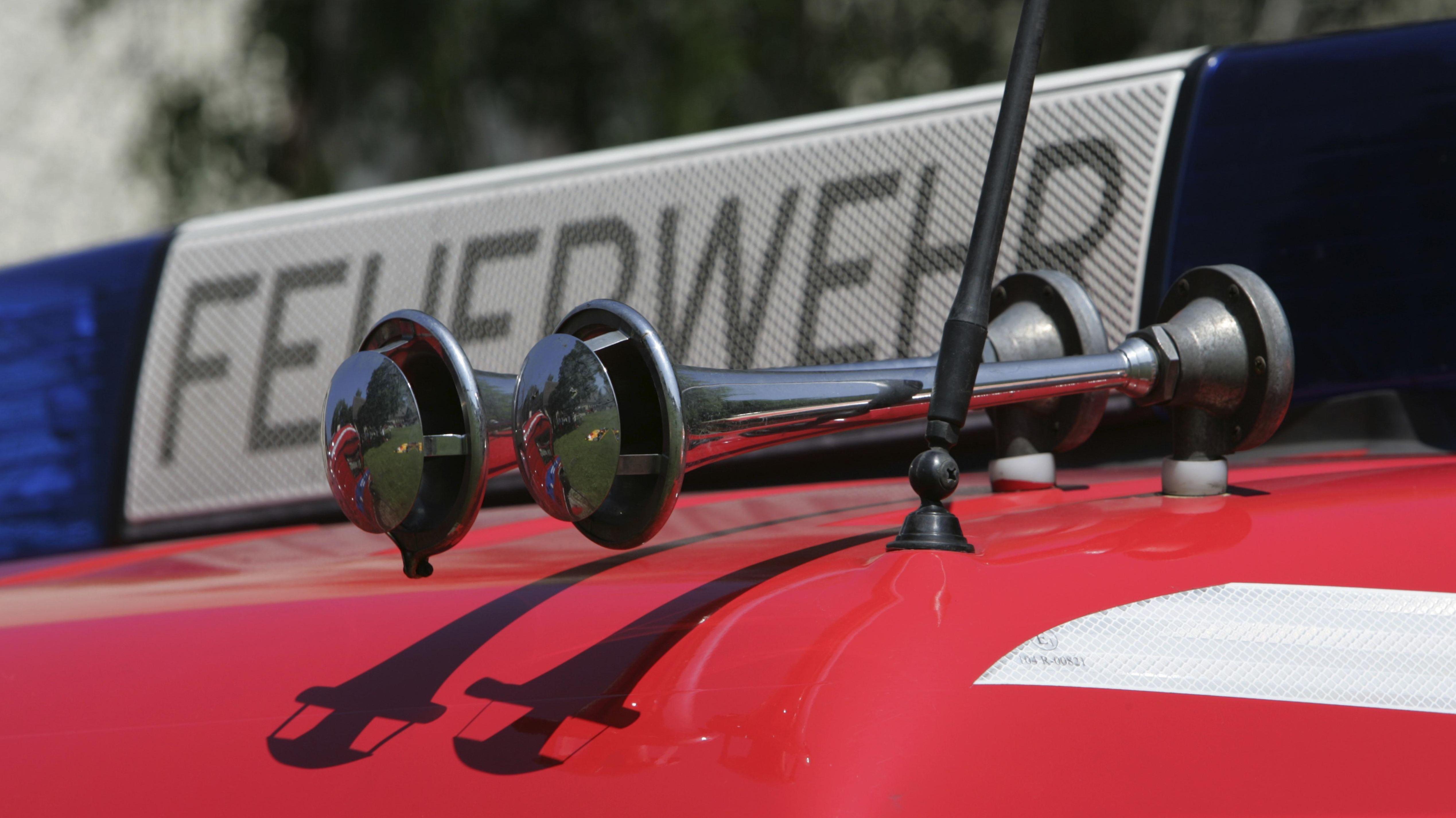 Sirenen auf einem Feuerwehrauto (Symbolbild)