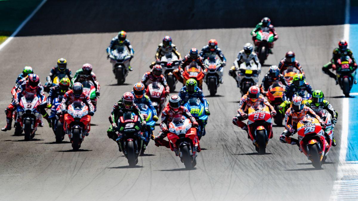 Motorrad-Rennen im Spanien Jerez