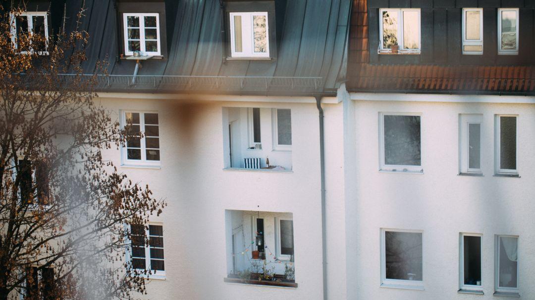 Die Fassade eines Hauses in München