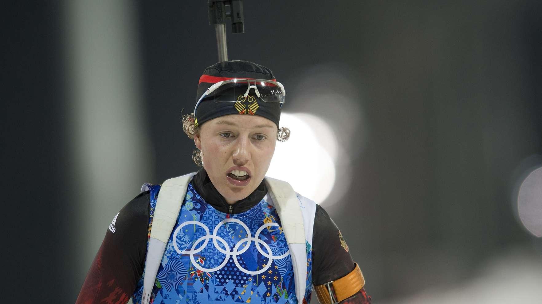 Laura Dahlmeier bei Olympia 2014