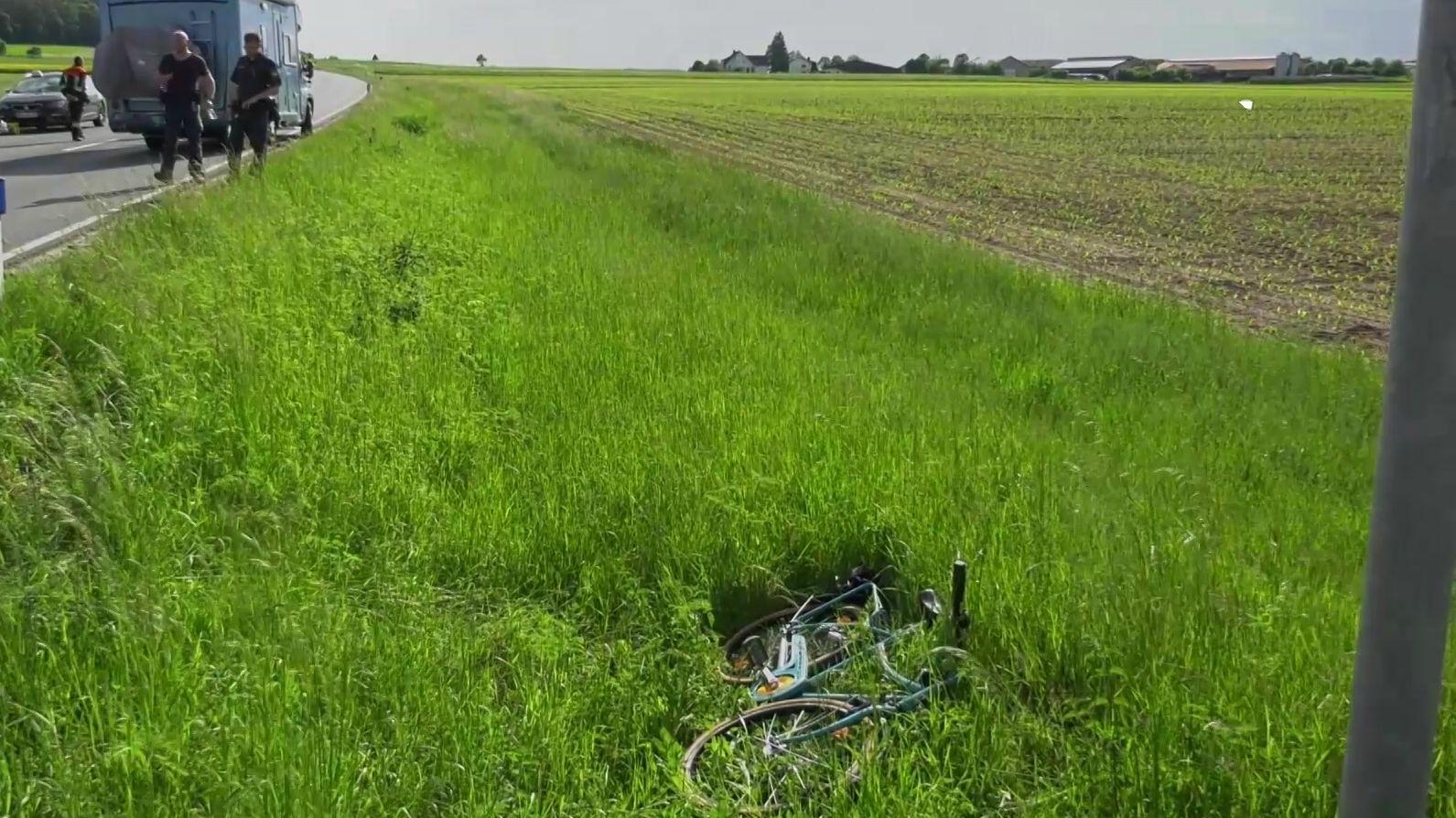 Unfallstelle an der Bundesstraße 470