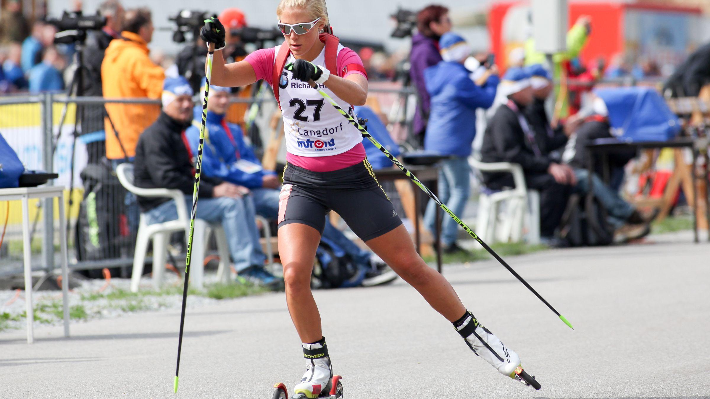 Deutsche Biathlon Meisterschaft 2015: Karolin Horchler beim Sprinten