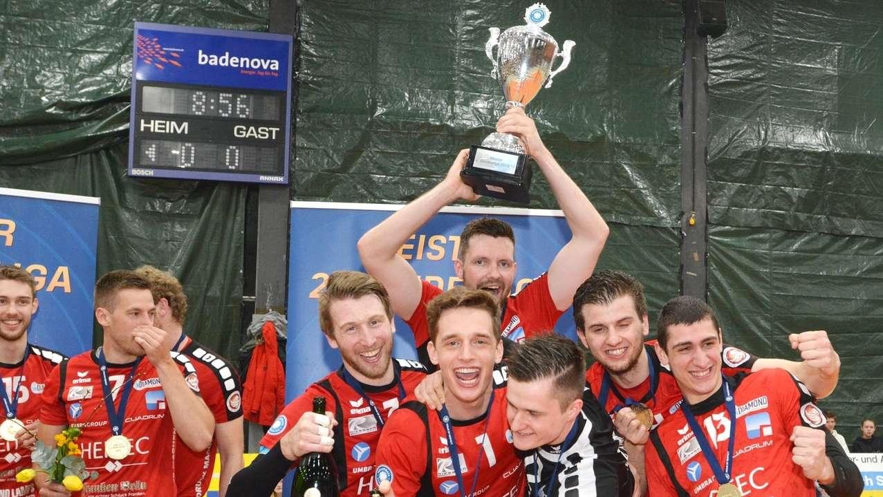 Meisterjubel bei Heitec Volleys Eltmann