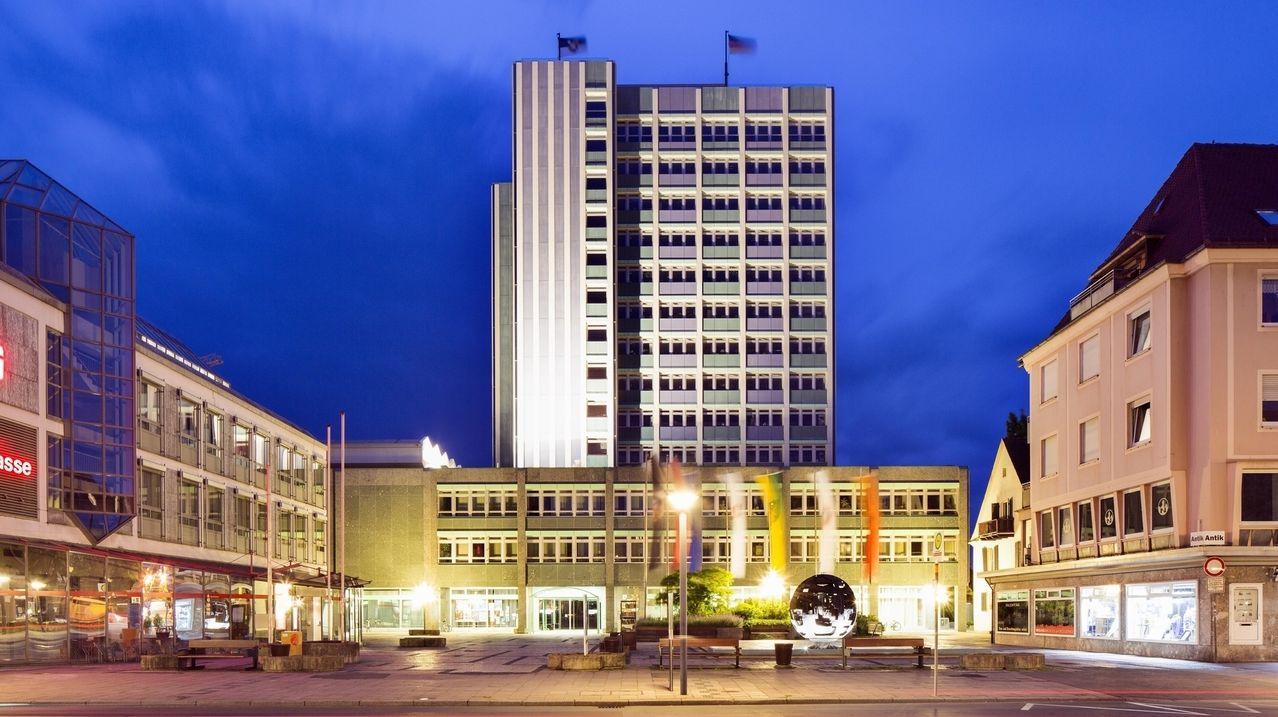 Das Neue Rathaus in Bayreuth.