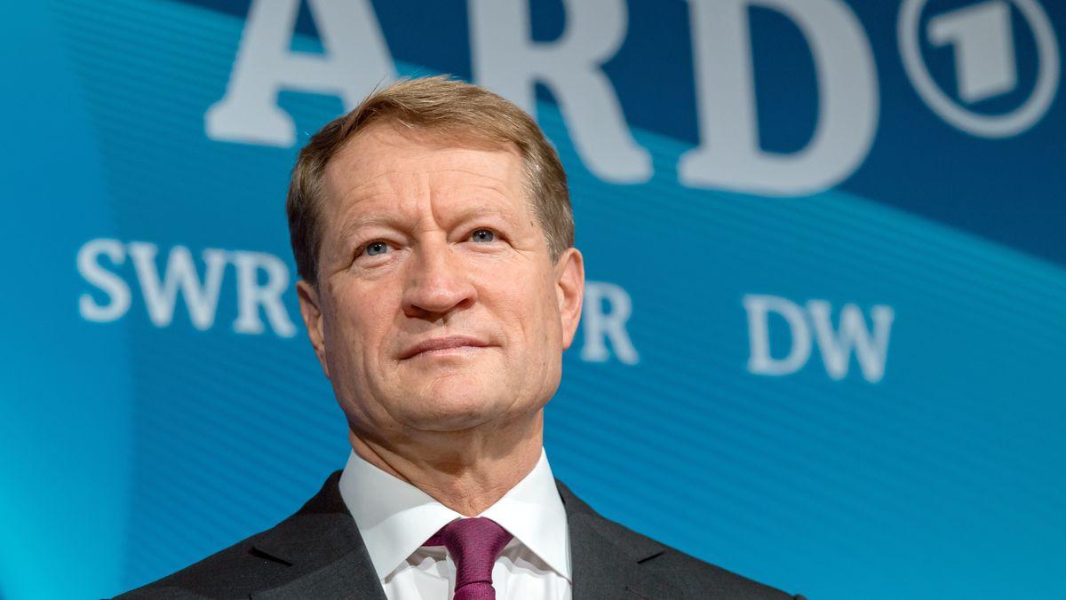 Ulrich Wilhelm, ARD-Vorsitzender und BR-Intendant, bei einer ARD-Pressekonferenz im BR-Funkhaus.