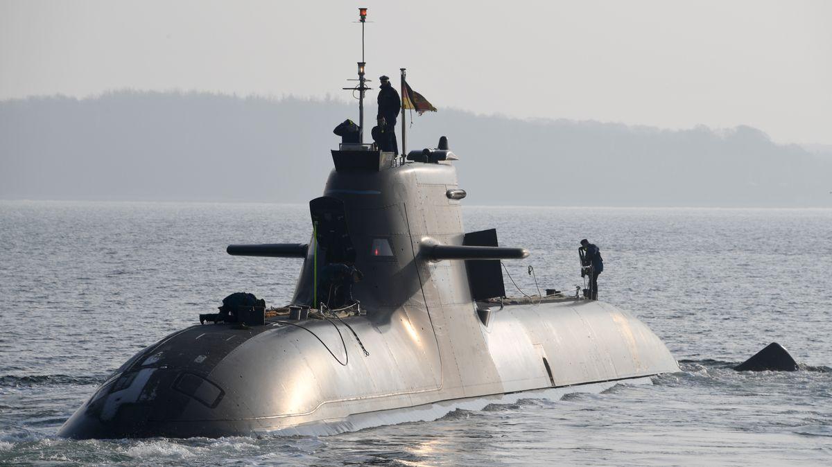 """Das deutsche U-Boot """"U36""""."""