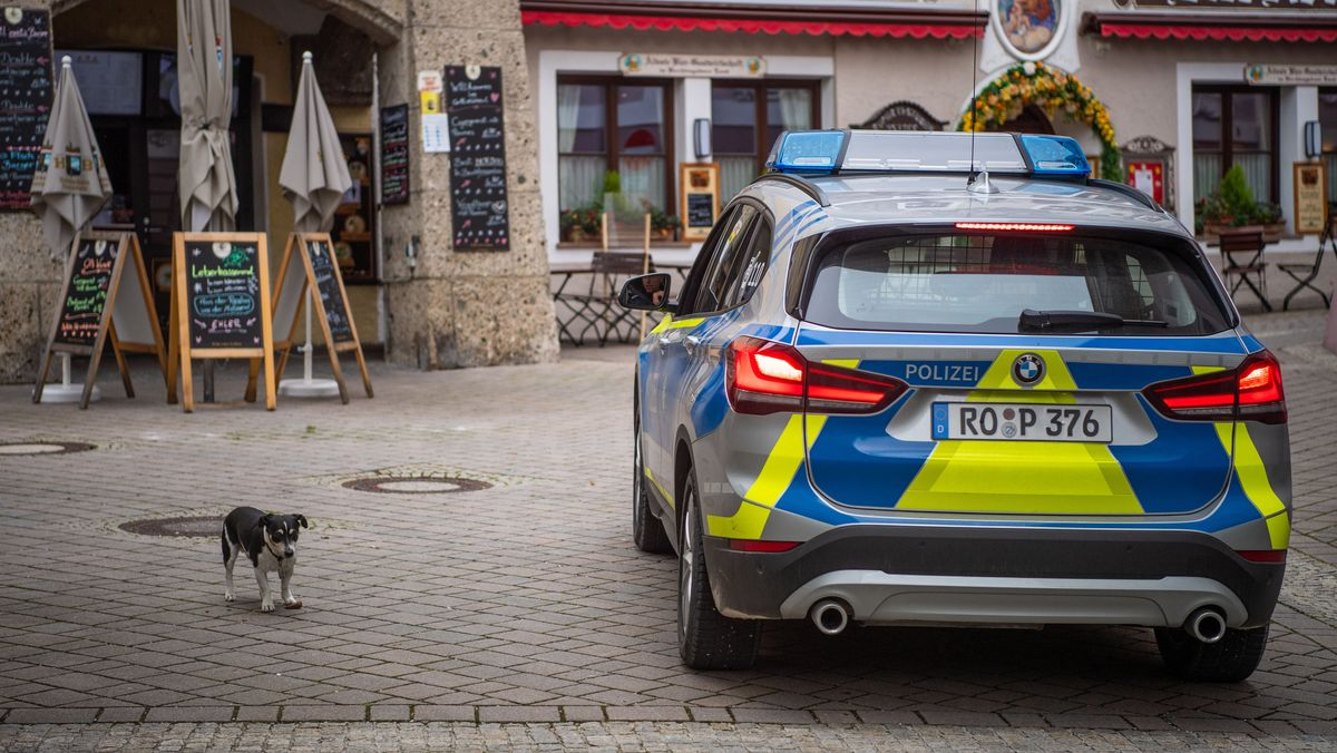 Polizeiwagen in Berchtesgaden.
