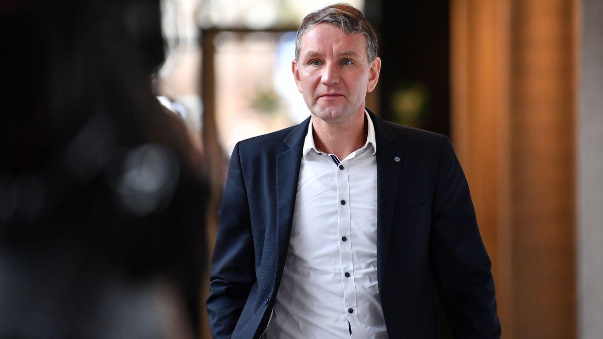 AfD-Politiker Björn Höcke Mitte Februar im Thüringer Landtag