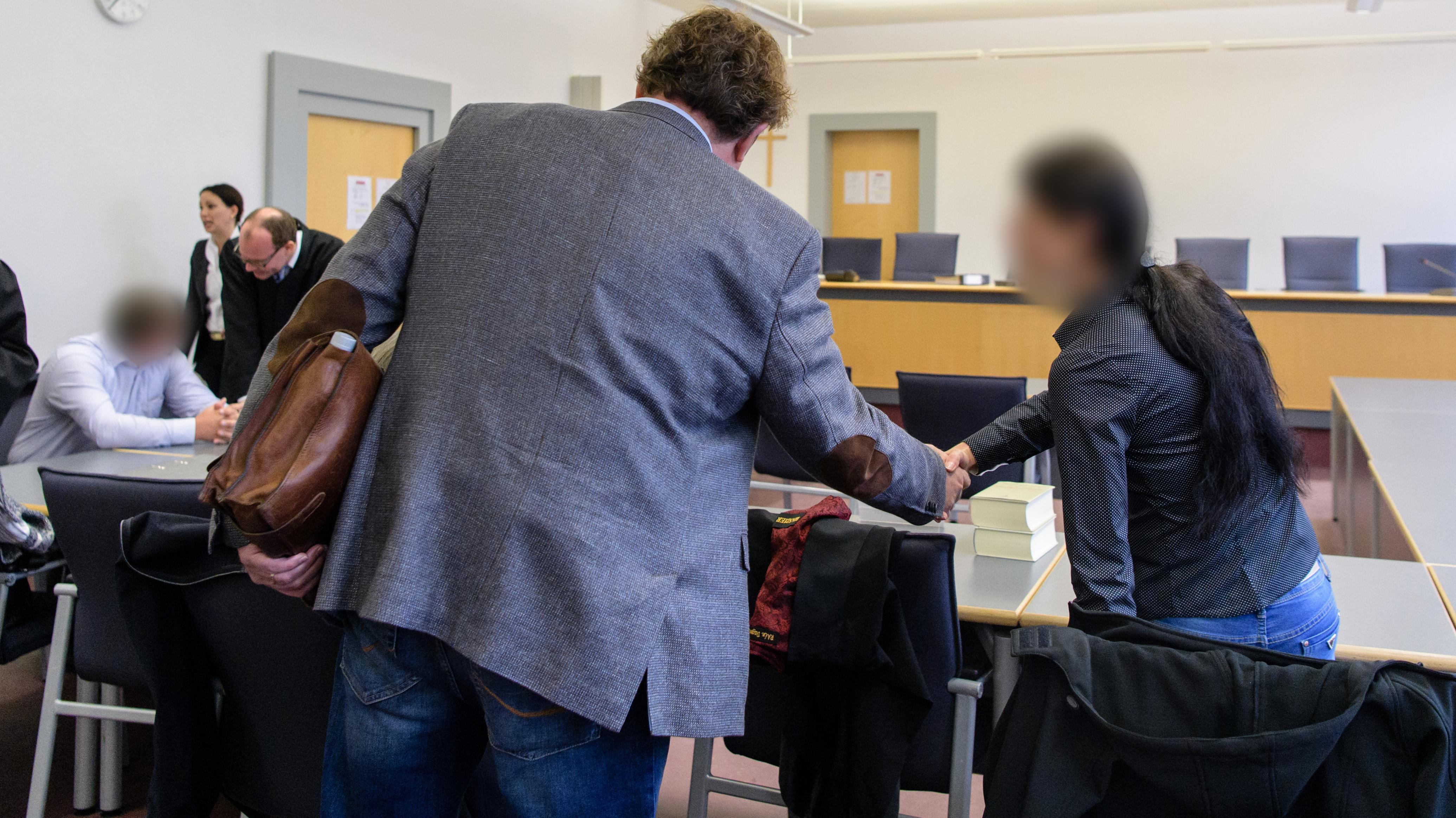 Der Hauptangeklagte im Regensburger Landgericht