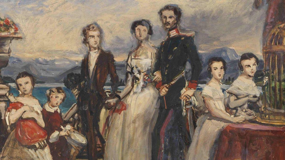Gemälde der Familie von Kaiserin Elisabeth