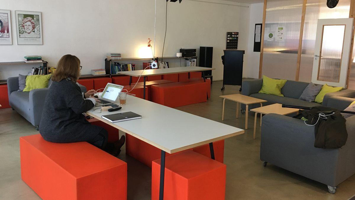 Einblick in die Nürnberger Coworking-Station