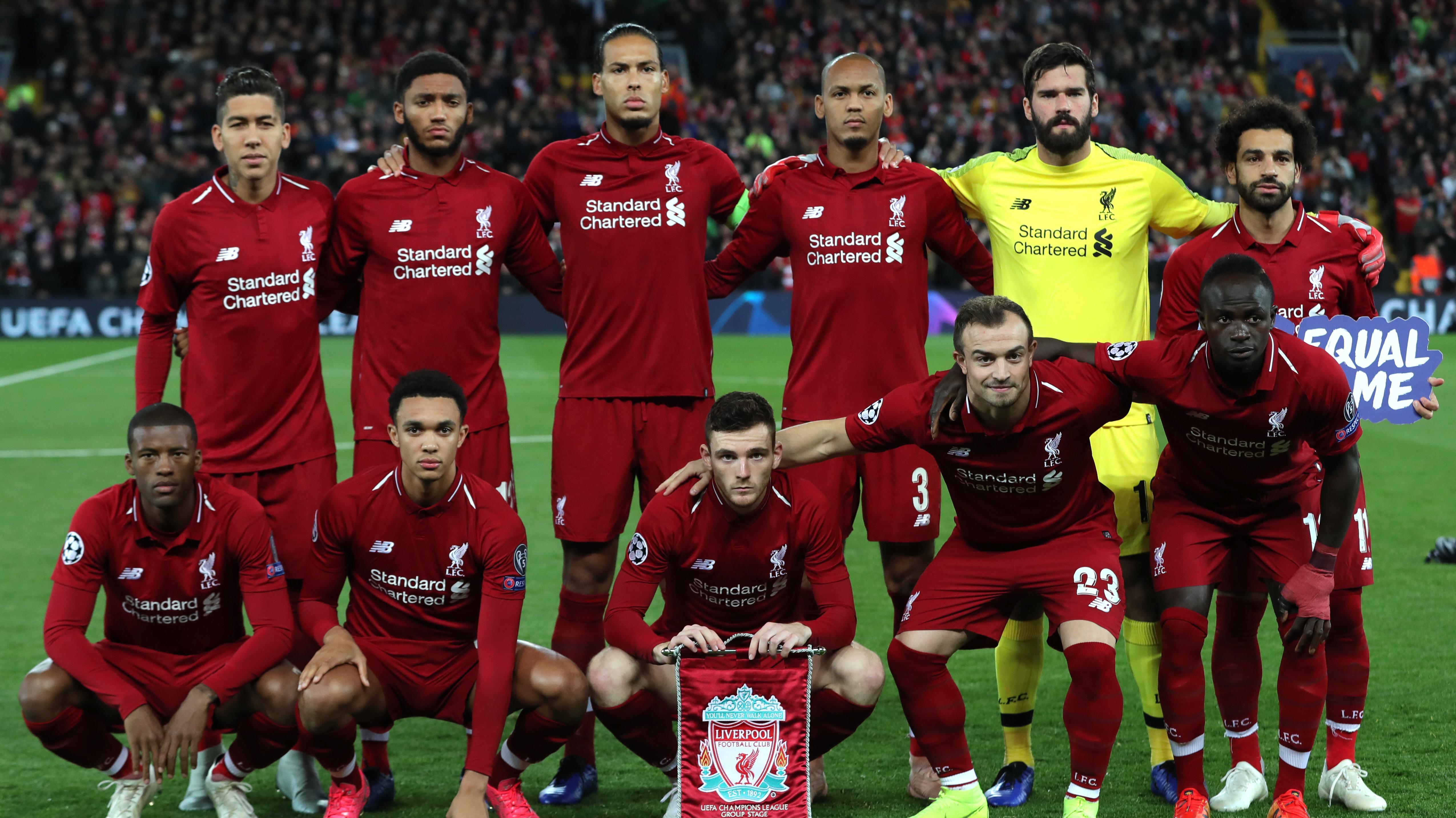 Die Startelf des FC Liverpool vor dem Champions-League-Spiel gegen Belgrad
