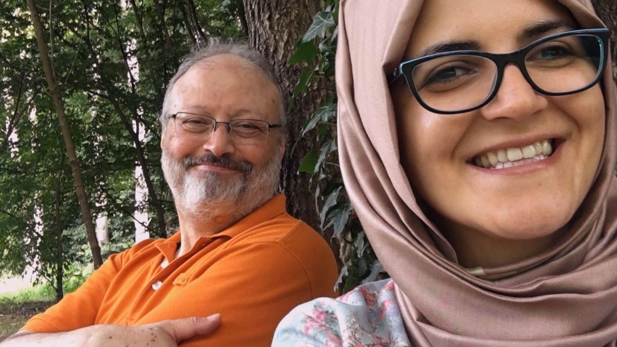 Szene aus glücklichen Tagen: Jamal Kashoggi und seine türkische Verlobte Hatice Cengiz.