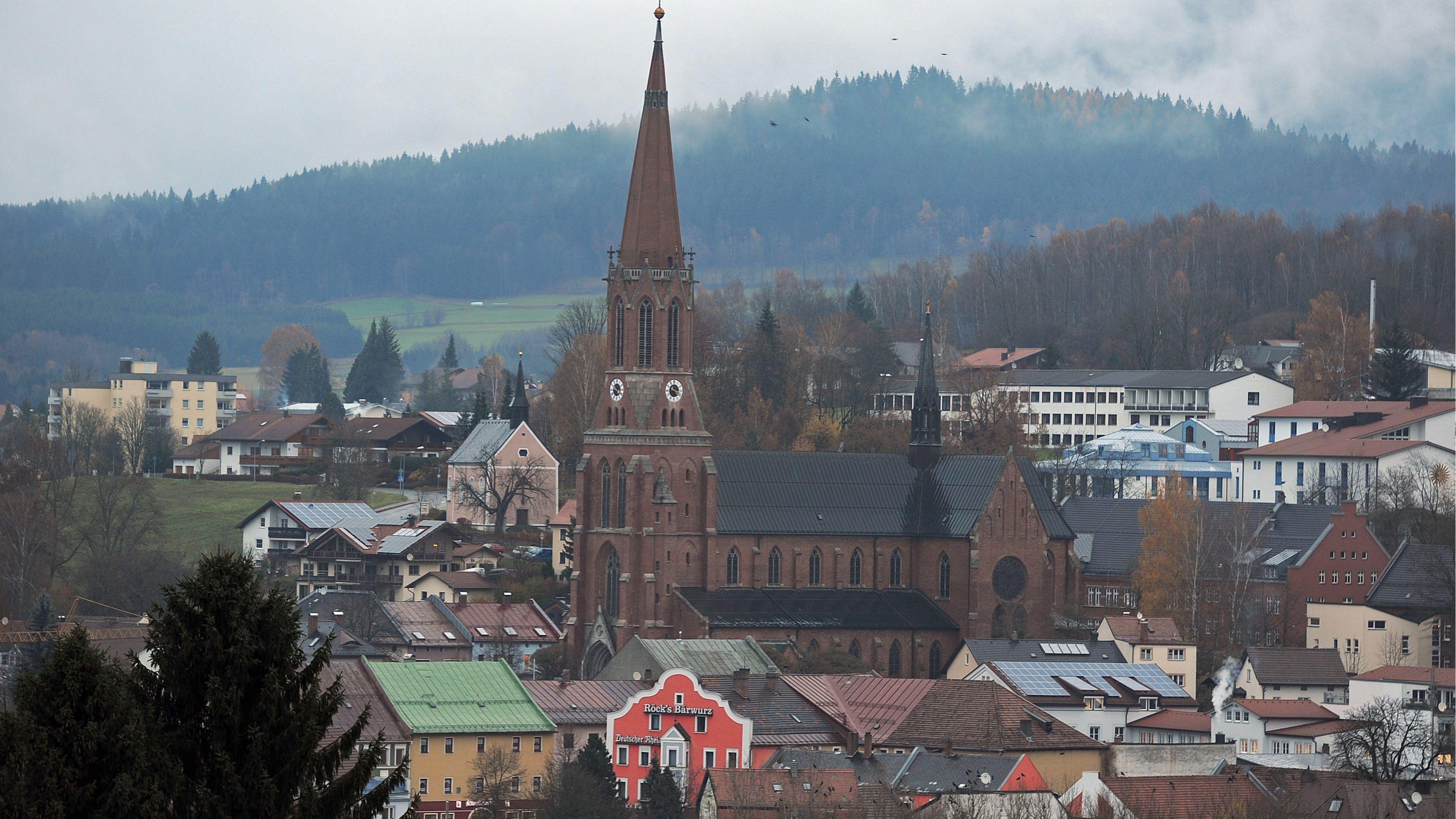 Stadtansicht von Zwiesel im Kreis Regen