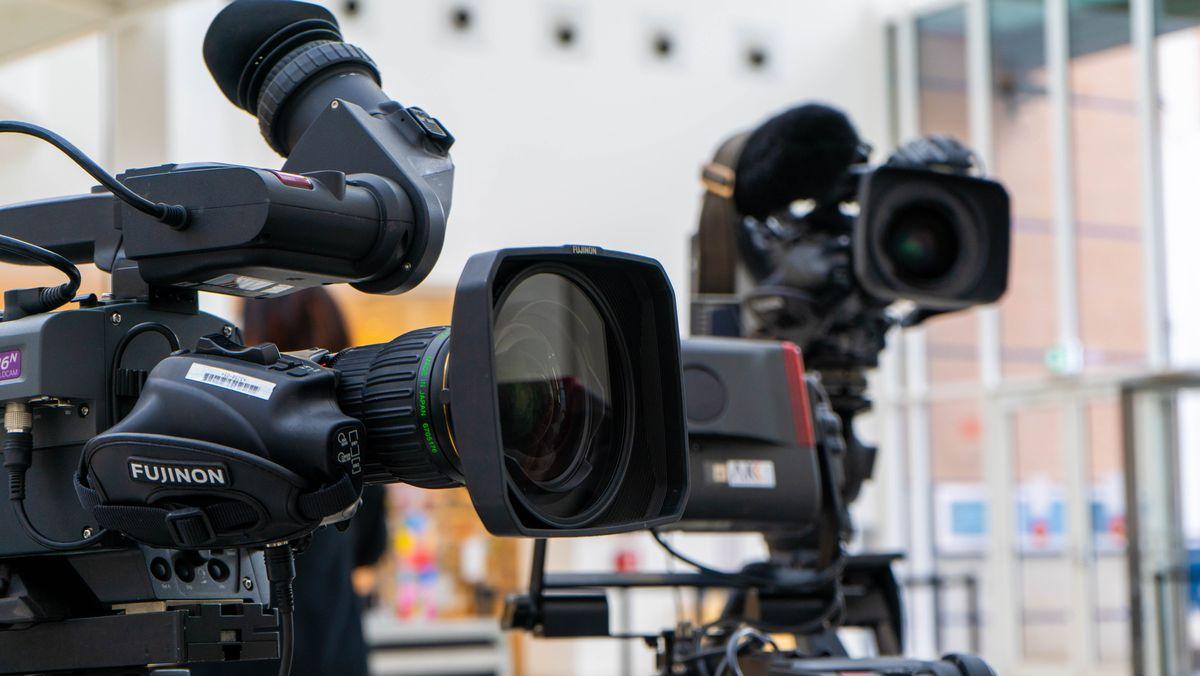 Kameras für die Live-Sendung