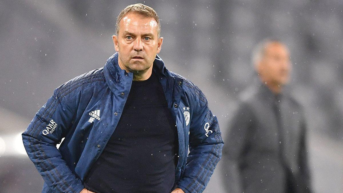 Hansi Flick beim DFB-Pokal-Halbfinale gegen Eintracht Frankfurt