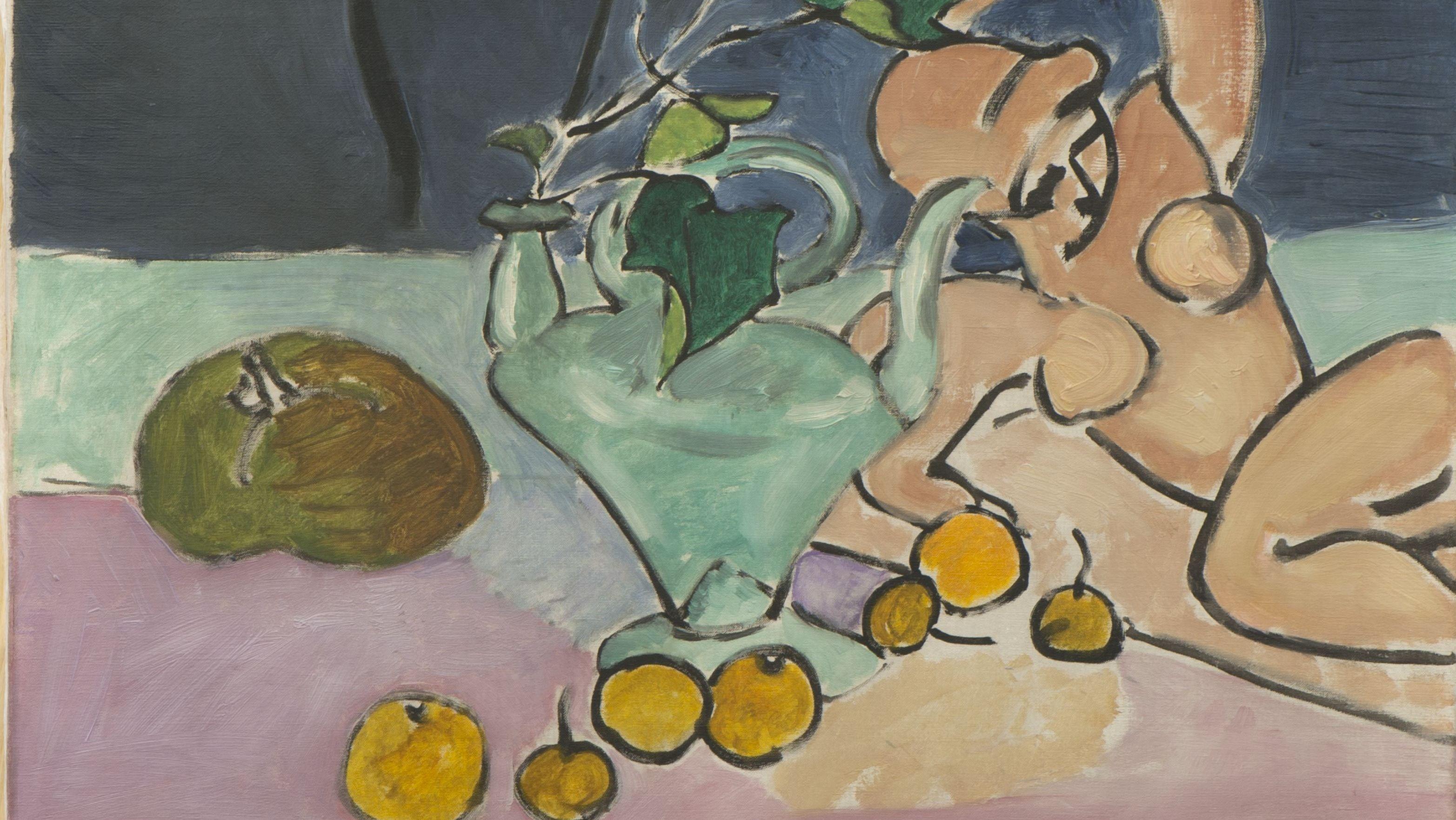 Henri Matisse, Stilleben mit Efeu (Skulptur und Vase mit Efeu) 1916,