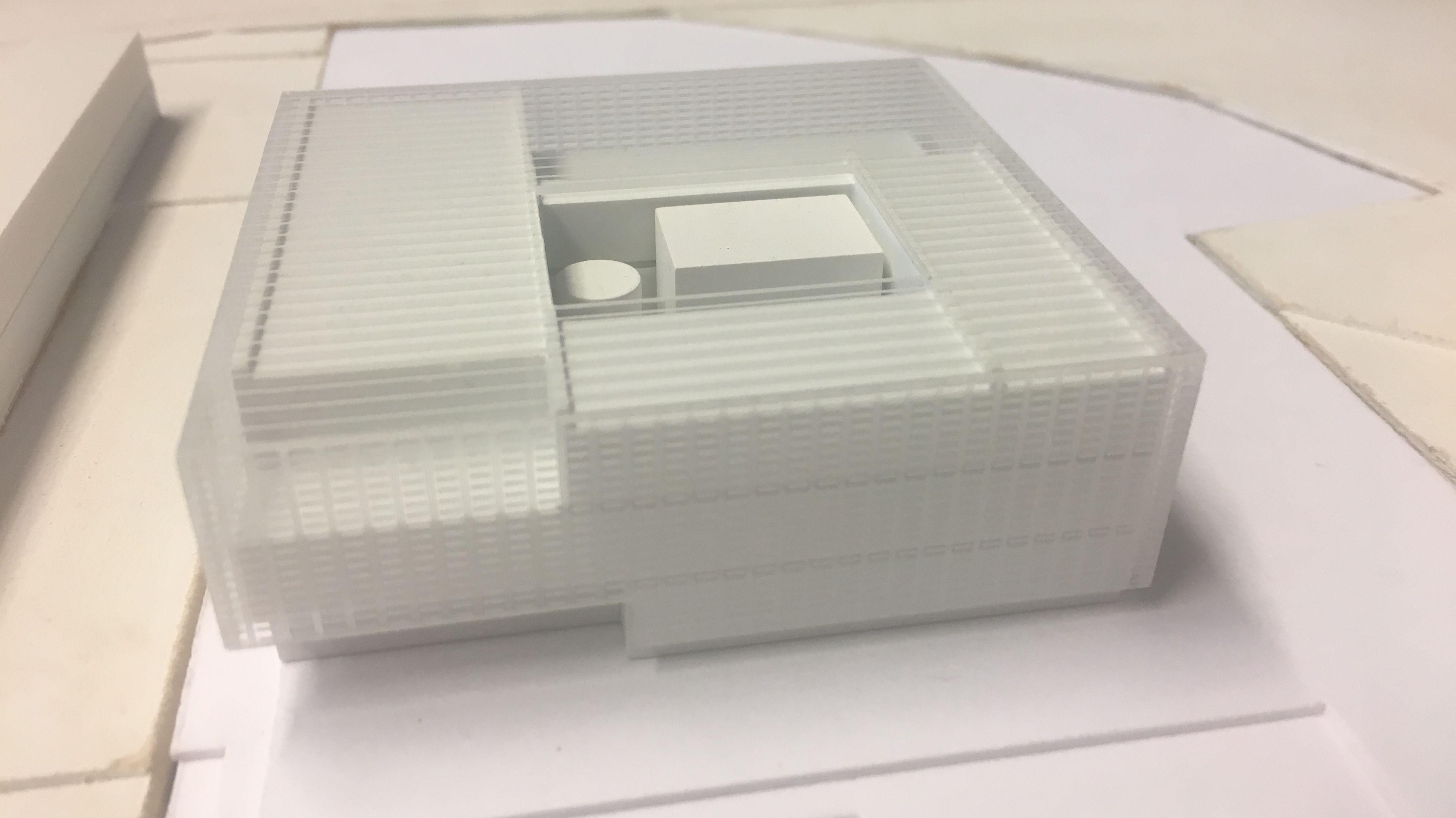Ein Modell des neuen Instituts für Wasser- und Energiemanagement an der Hochschule für Angewandte Wissenschaften Hof