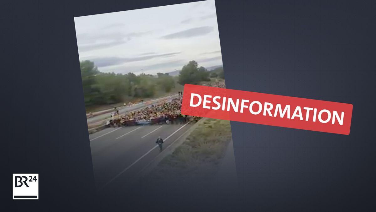 Video aus Spanien zeigt nicht Kundgebungen gegen Corona-Maßnahmen, sondern einen Marsch für die Unabhängigkeit Kataloniens (2019)