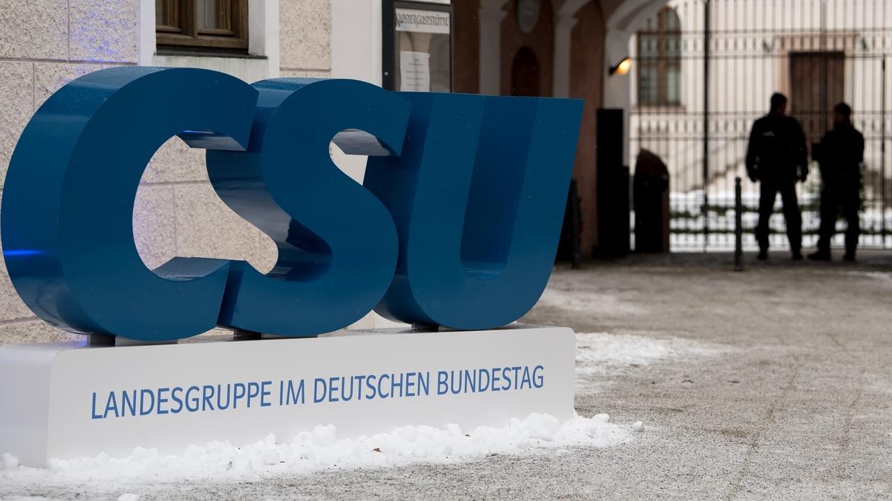 CSU-Logo in Kloster Seeon