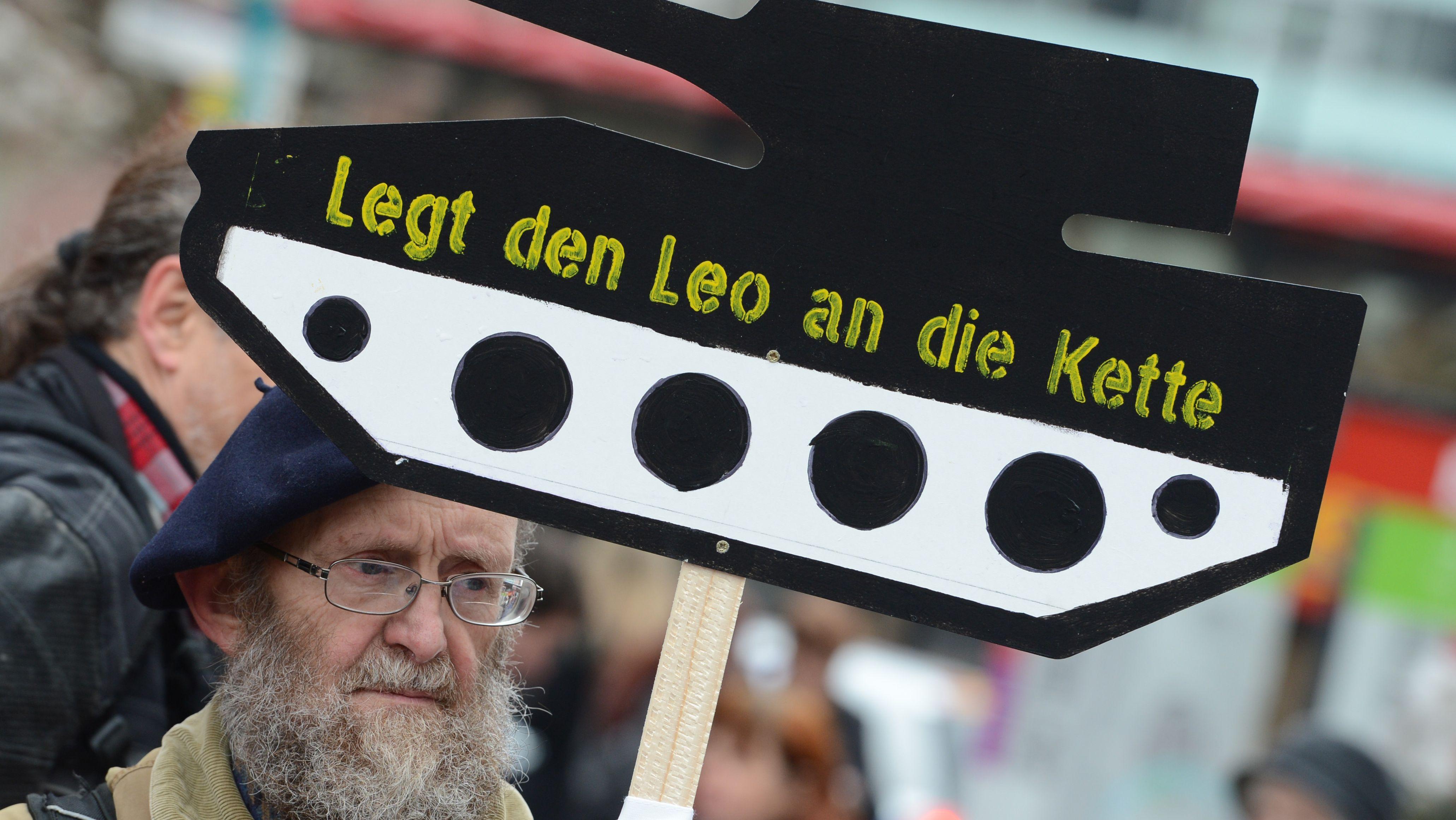 Demonstration gegen Rüstungsexporte beim Ostermarsch (Archivbild)