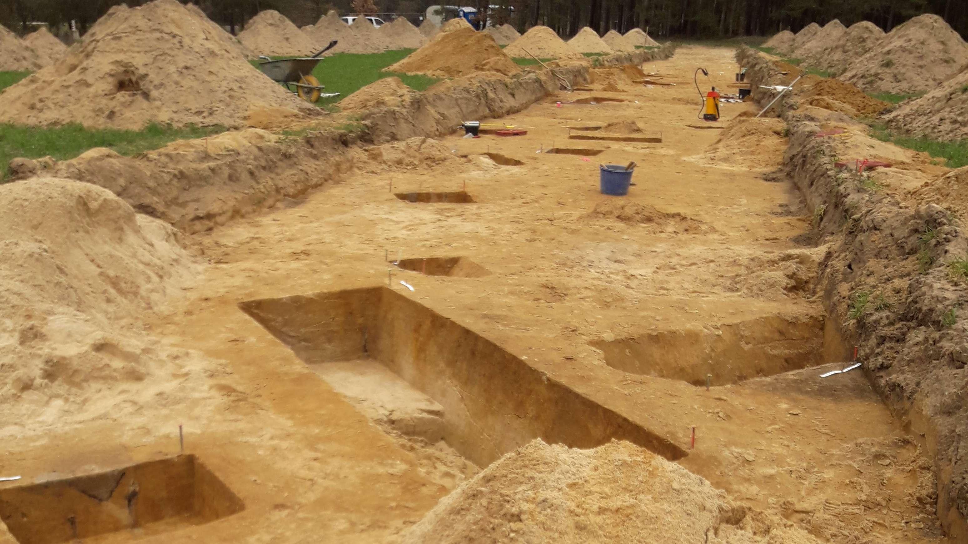 Ausgrabungsarbeiten in der Nähe von Erlangen