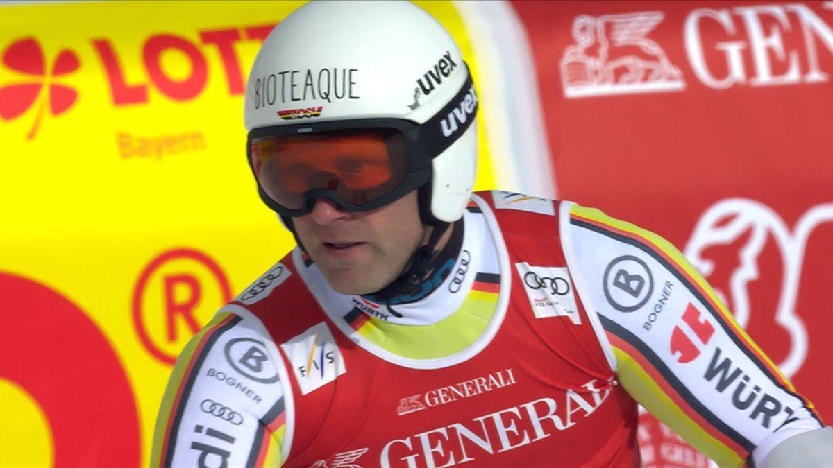 Beim Super-G auf der Kandahar in Garmisch-Partenkirchen belegte Romed Baumann (Kiefersfelden) Platz 10. Das Rennen gewann der Österreicher Vincent Kriechmayr vor seinem Mannschaftskollegen Matthias Mayer und dem Schweizer Marco Odermatt.
