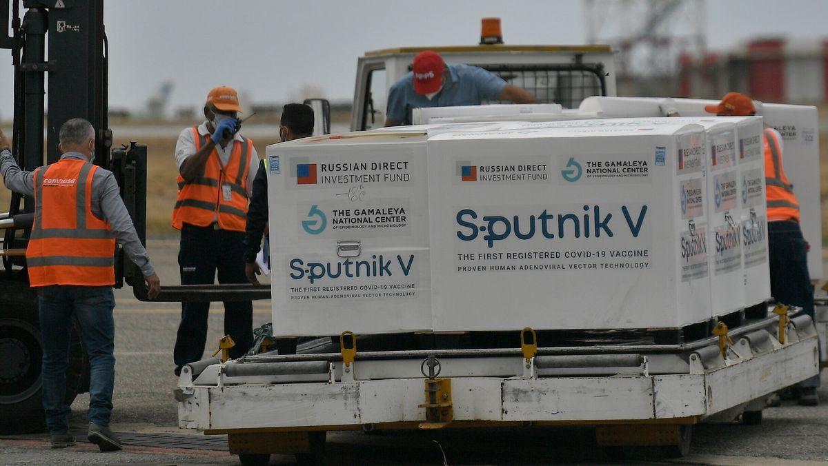 Lieferung des russischen Corona-Impfstoffs Sputnik V nach Venezuela.