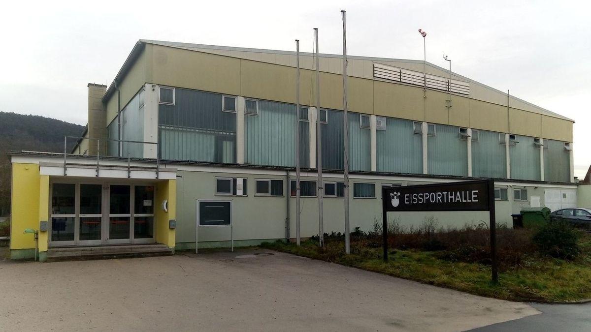 Die Eissporthalle in Bad Kissingen