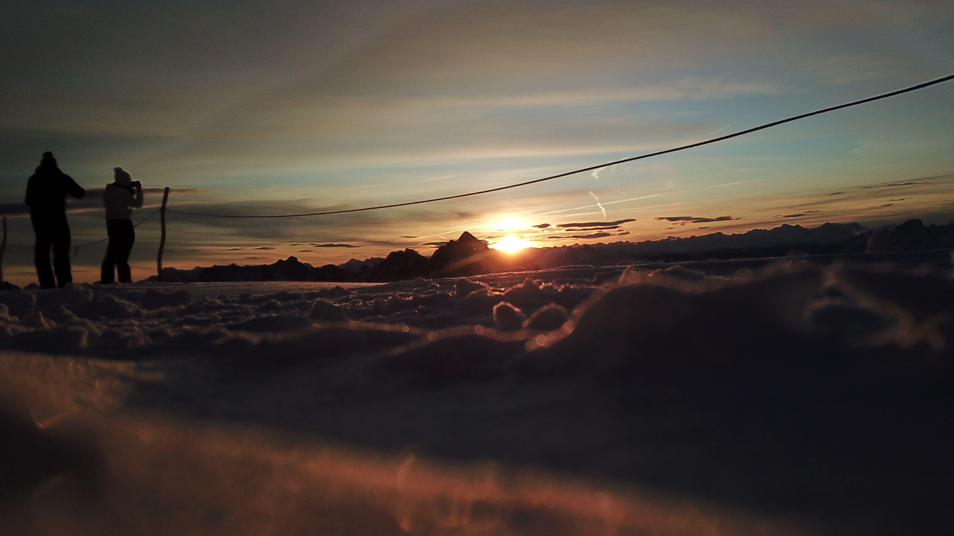 Sonnenaufgang auf rund 2.900 Meter Höhe