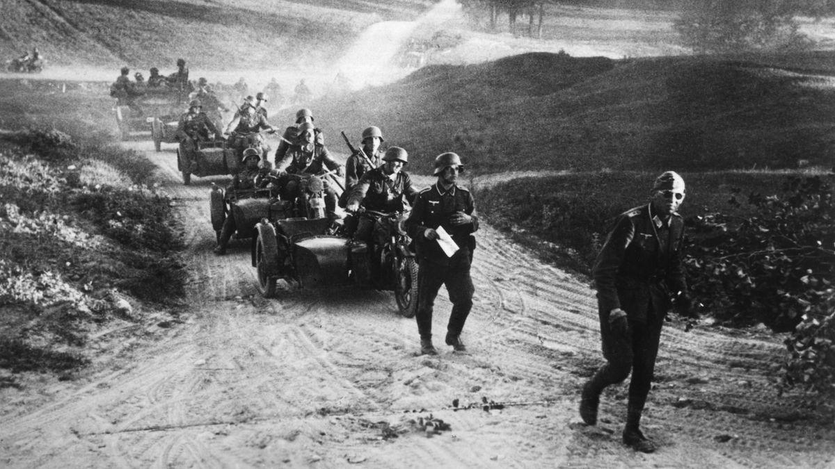 Aufnahme vom deutschen Überraschungsangriff auf die Sowjetunio am 22. Juni 1941.