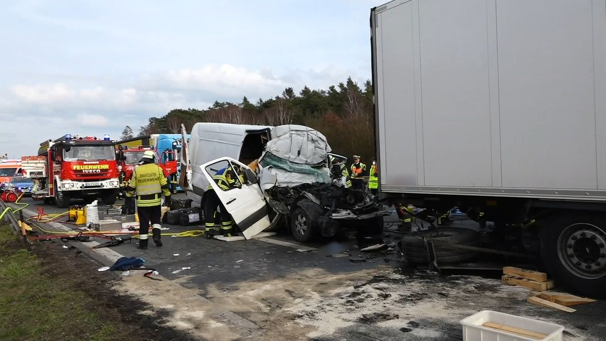 Schwerer Unfall auf der A6