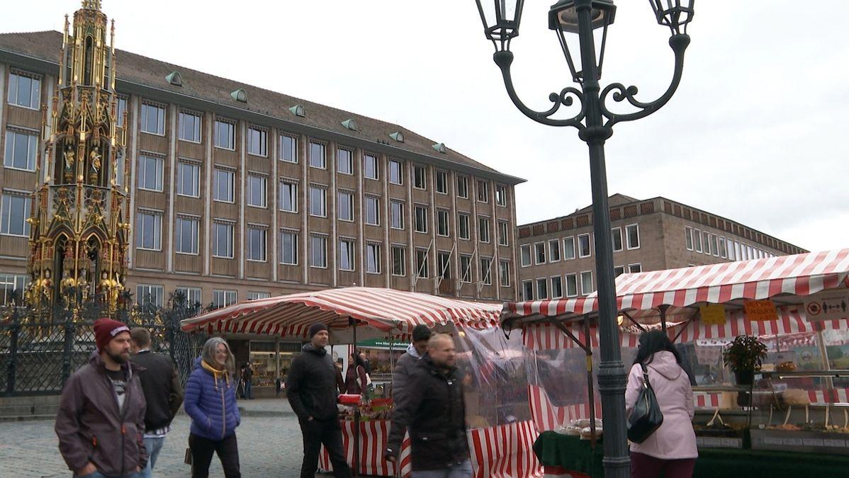 Der Hauptmarkt in Nürnberg