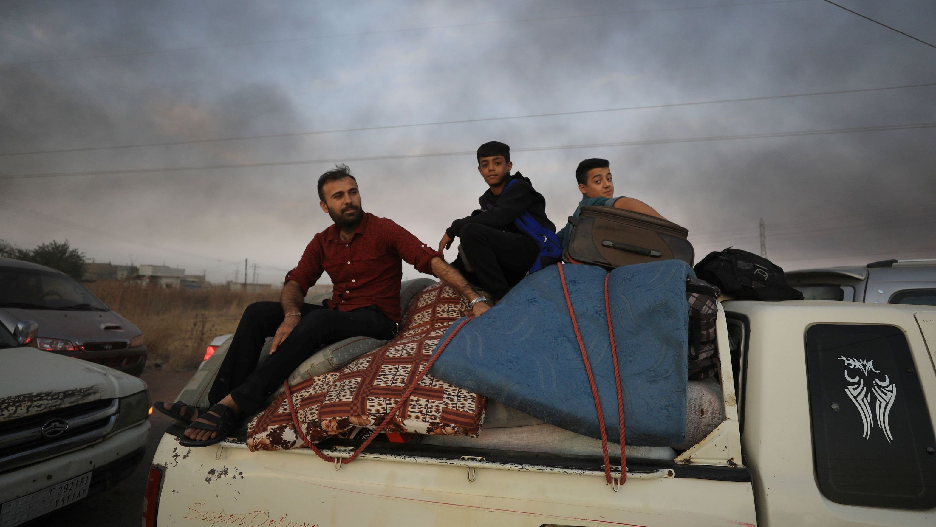 Kurden verlassen die nordsyrische Grenzstadt Ras al Ain