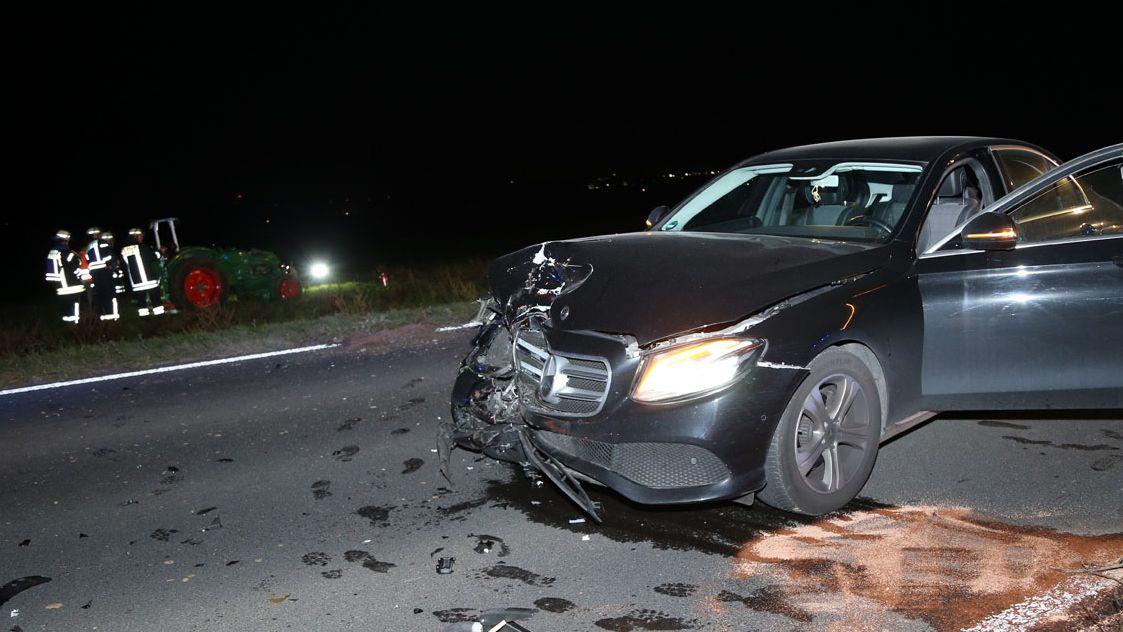 Unfallstelle bei Großostheim