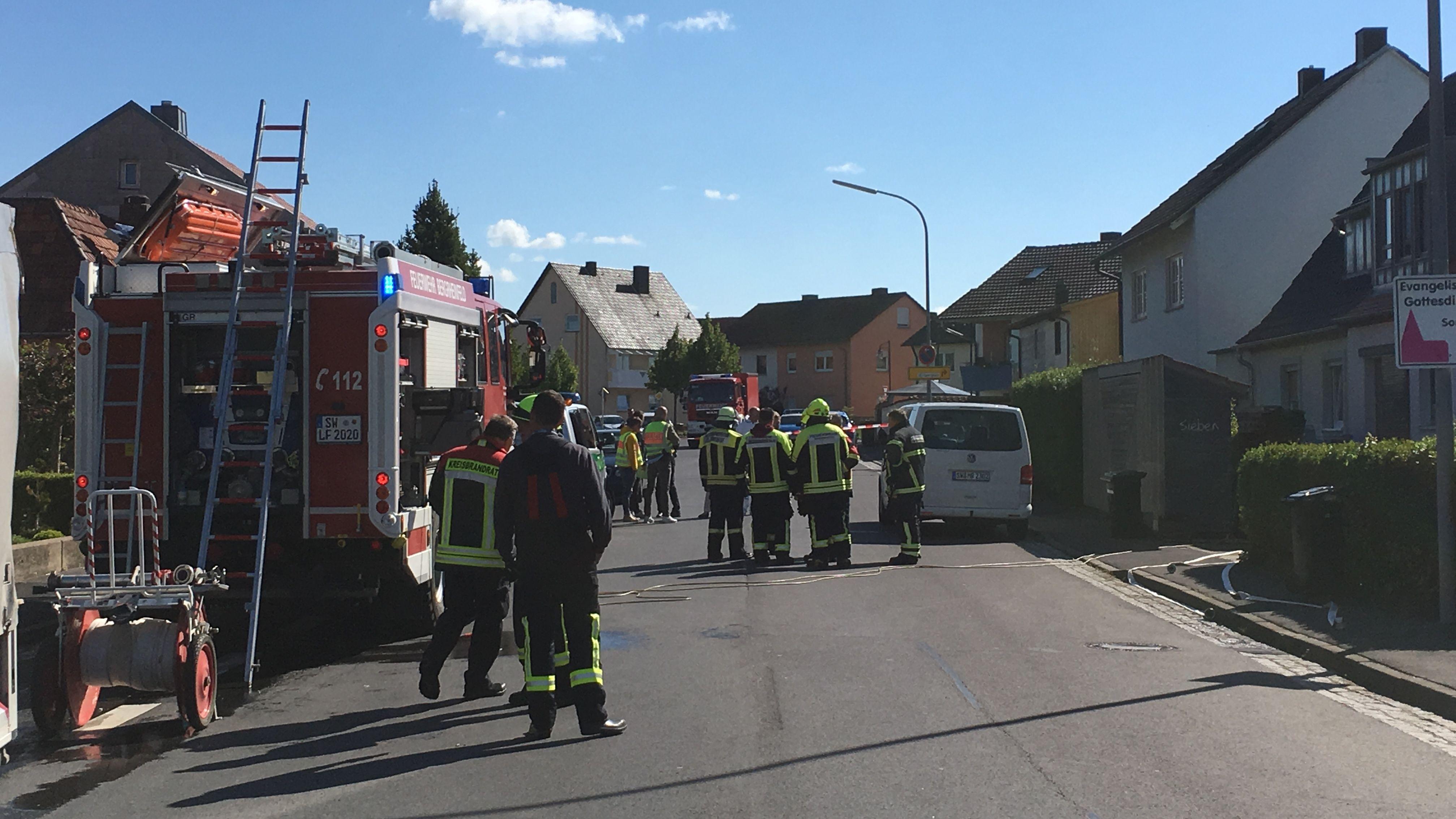 Zwei Leichen in brennendem Haus in Bergrheinfeld gefunden