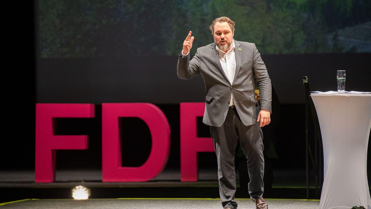 FDP-Landesvorsitzender Daniel Föst beim Politischen Aschermittwoch zu Beginn des Jahres.