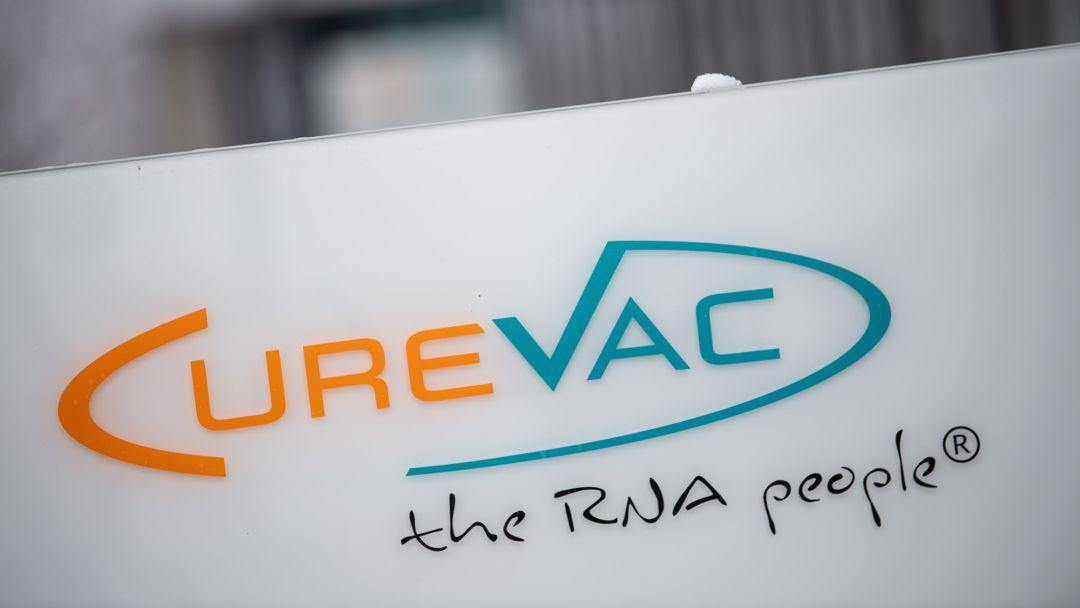 Das Logo des Biotech-Unternehmen Curevac