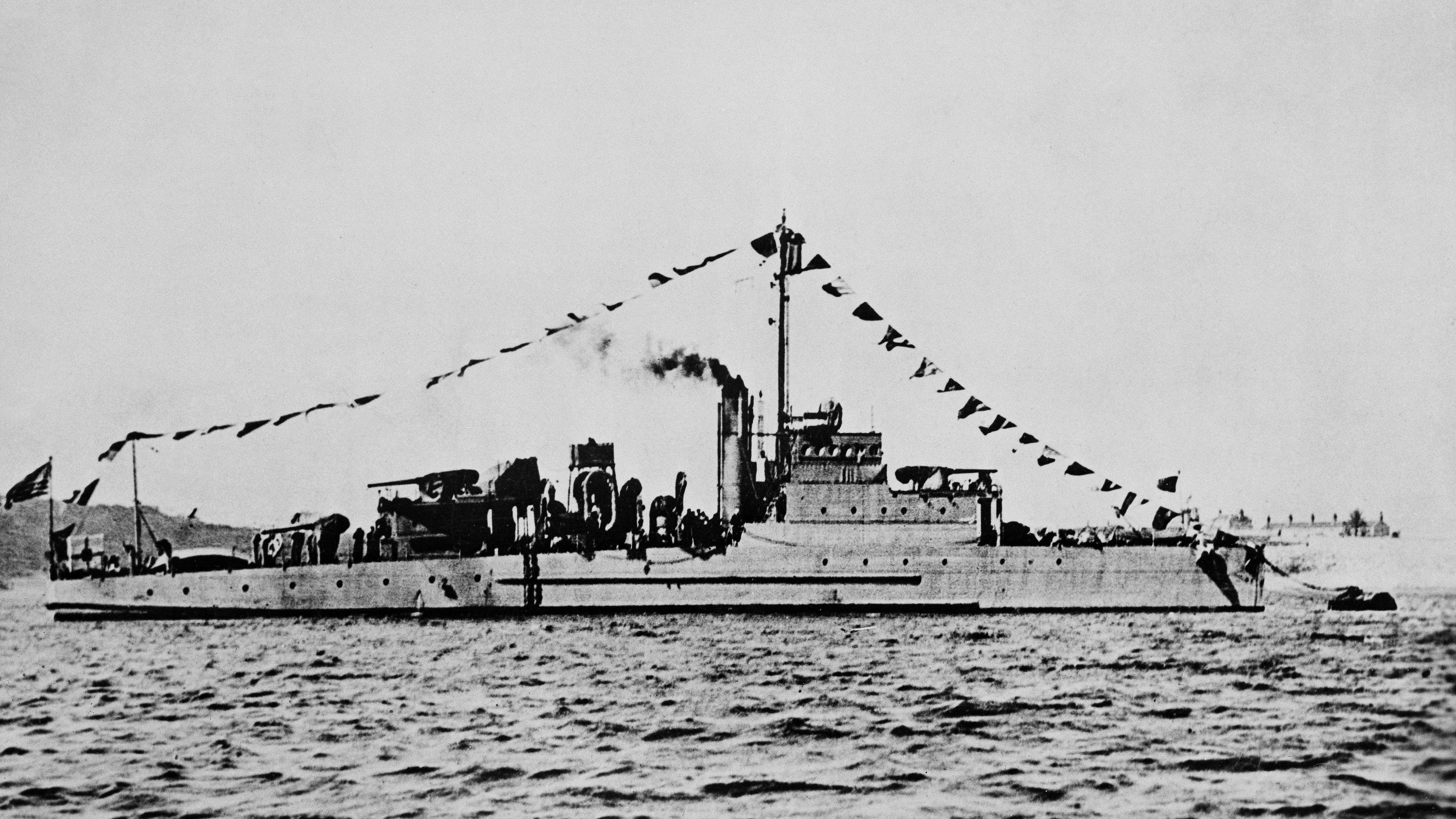 Undatiertes Foto eines Eagle-Kriegsschiffes, ähnlich der USS Eagle PE-56, deren Wrack vor der US-Ostküste entdeckt wurde.