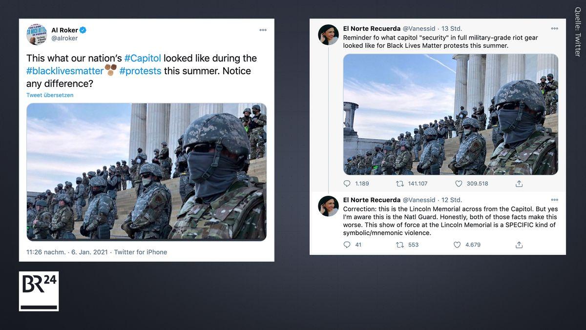 In den USA verbreitet sich das falsch verortete Bild auf Twitter