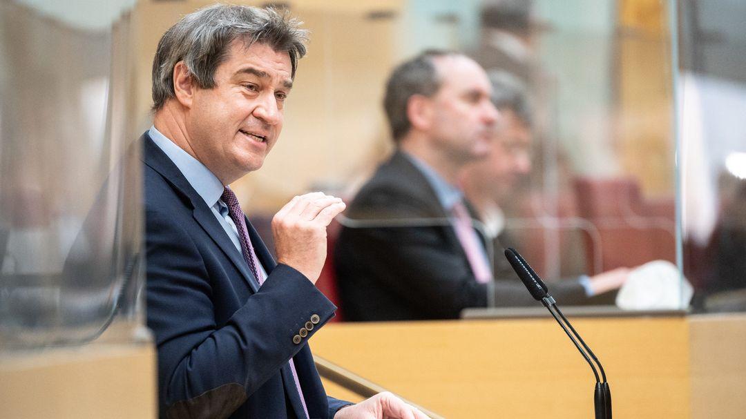 Markus Söder im Landtag