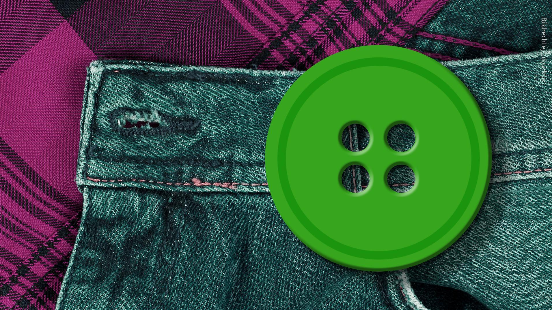 Umweltsiegel Der grüne Knopf - Symbolbild