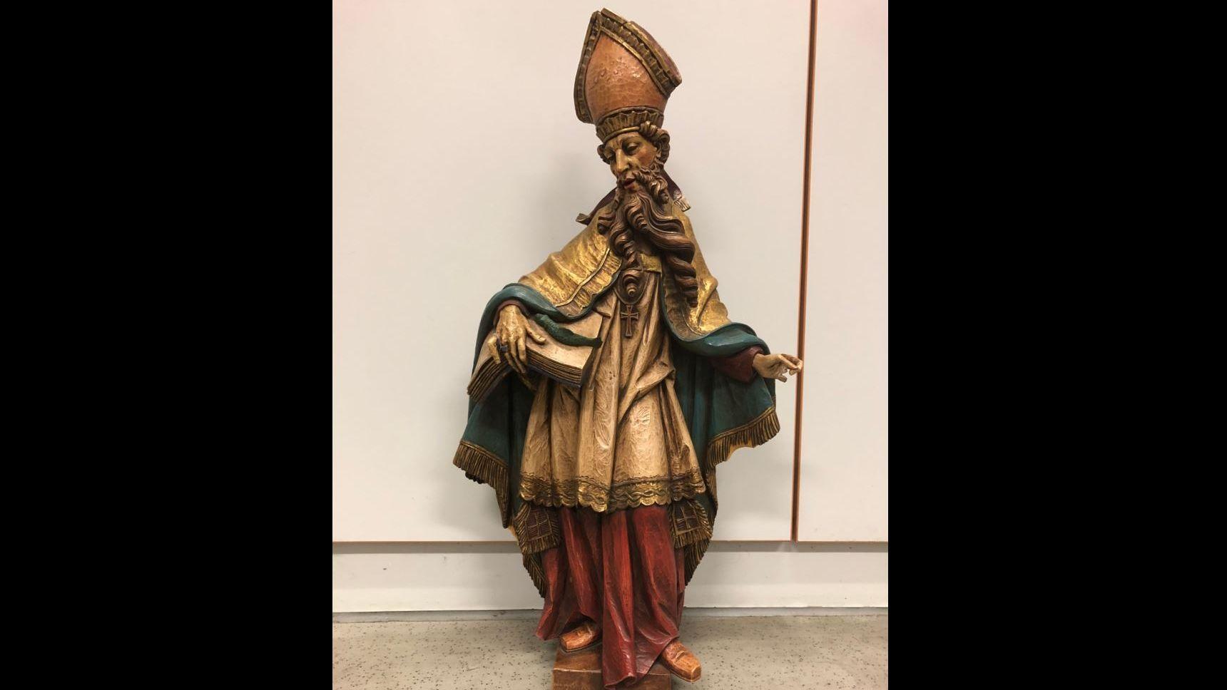 Die gefundene Heiligenfigur
