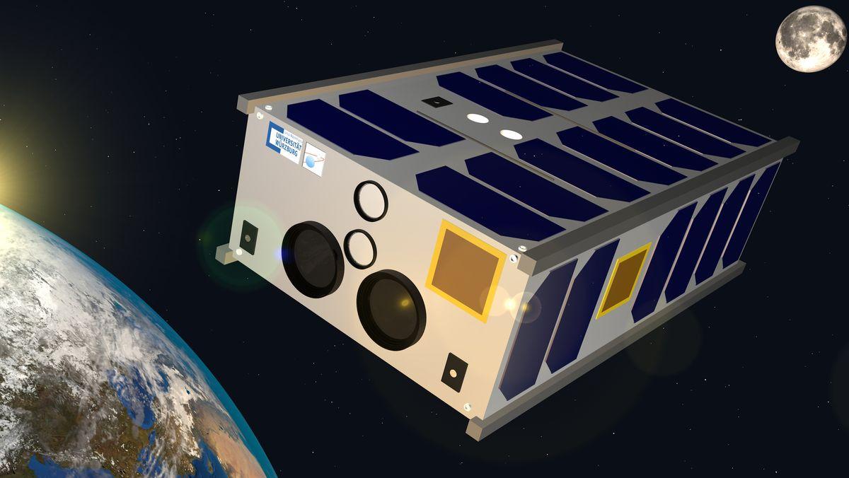 Der Kleinsatellit SONATE-2 soll mit mit Hilfe von künstlicher Intelligenz unbekannte Weltraumphänomene erkunden.