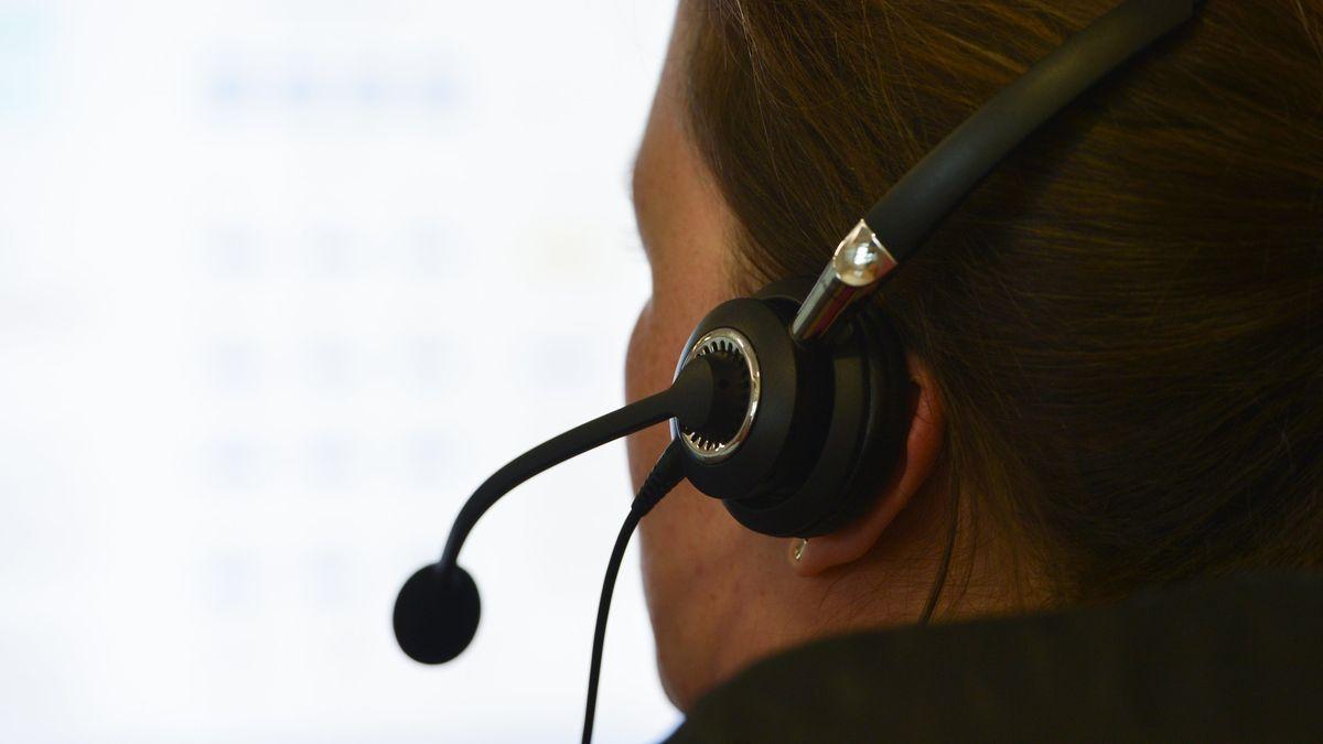Callcenter einer Hotline