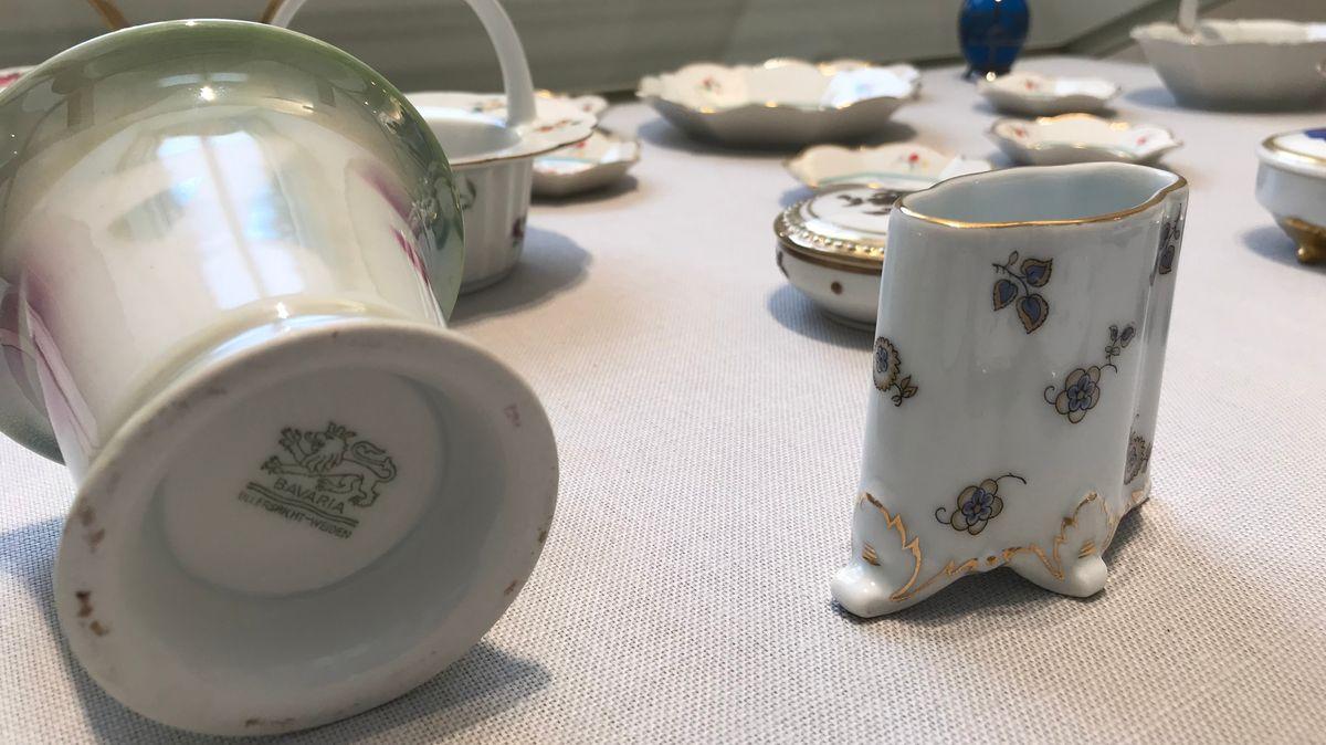Exponate der Weidener Porzellanmanufaktur Bavaria Ullersricht